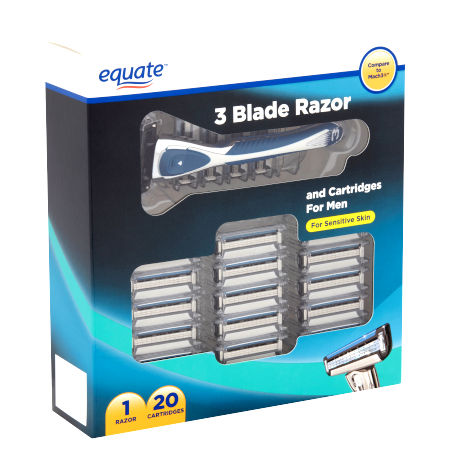 Equate 3-Blade Razor with 20 Refill Cartridges