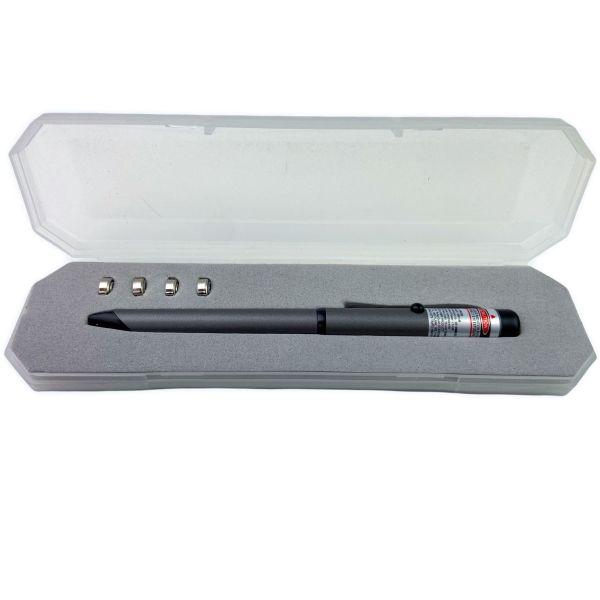 10-Set 2 in 1 Laser Flashlight Pen with Case Soft Rubber Grip
