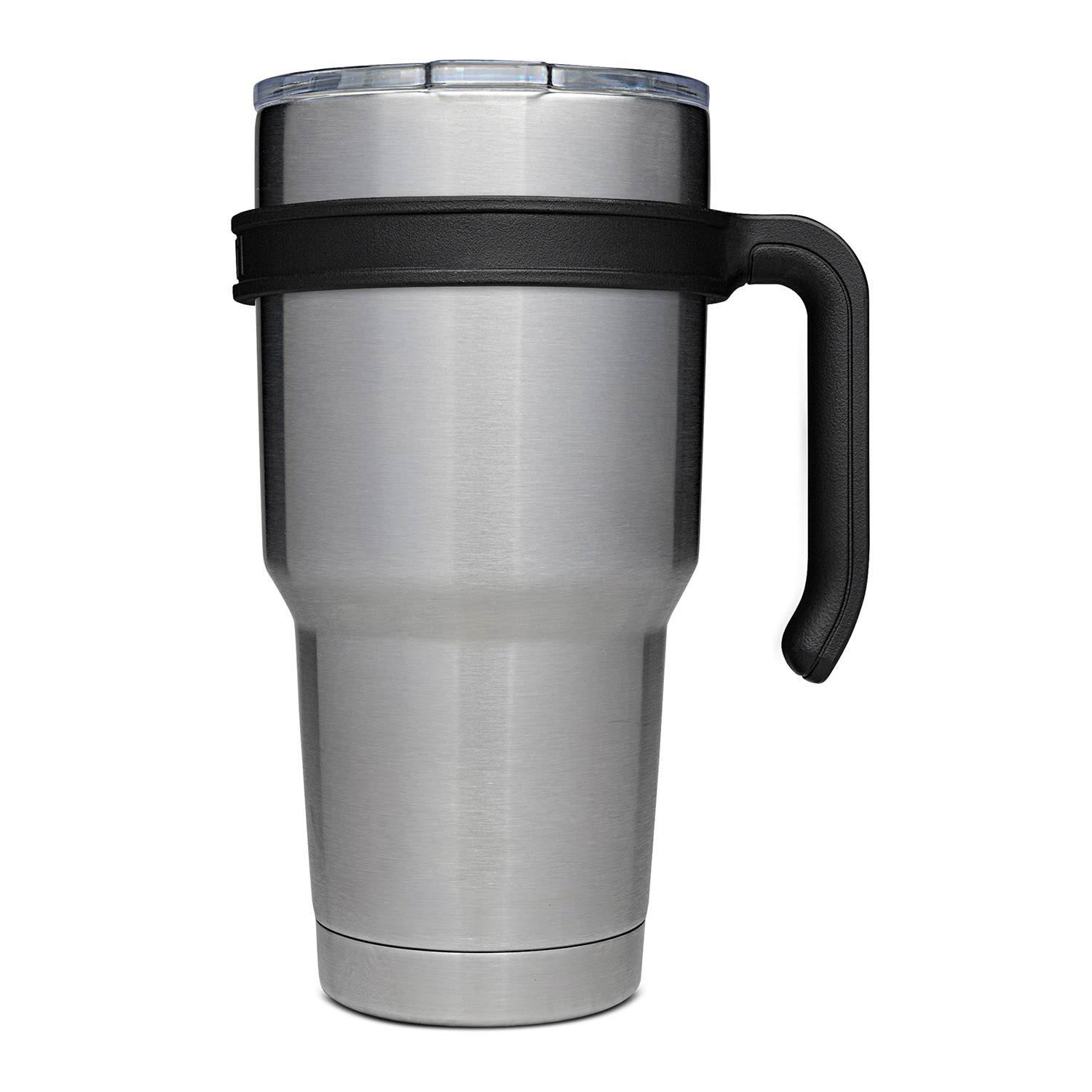FAMOUS BRAND 30-Ounce Double Walled Stainless Steel Vacuum Tumbler WITH LID - WORKS EXACTLY LIKE A YETI (But it's not that brand)! Keeps beverages cold for up to 48 hours! - We had to agree to keep the brand name a secret due to our price, but these work GREAT! You're getting such an amazing deal because they will have assorted logos / licenses on them (Nasa, Star Wars, Marvel, etc) - Choose with or without handle - $1.49 shipping, but order 2 or more and SHIPPING IS FREE & IMMEDIATE! (IF YOU ARE LOOKING FOR THE KN95 MASKS THAT WE RECENTLY OFFERED, CLICK HERE.