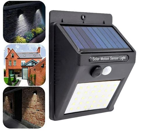 Solar Powered Motion Sensor Weather Proof Light Indoor-Outdoor COB LED Light - Great for security motion lighting, decks, patios, stairs, driveways, over doorways and more! Order 6 or more and SHIPPING IS FREE!