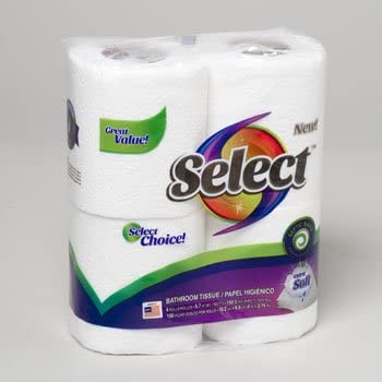 $3.99 (reg $5) 4 Rolls of Select Choice Extra Soft Bathroom Tissue
