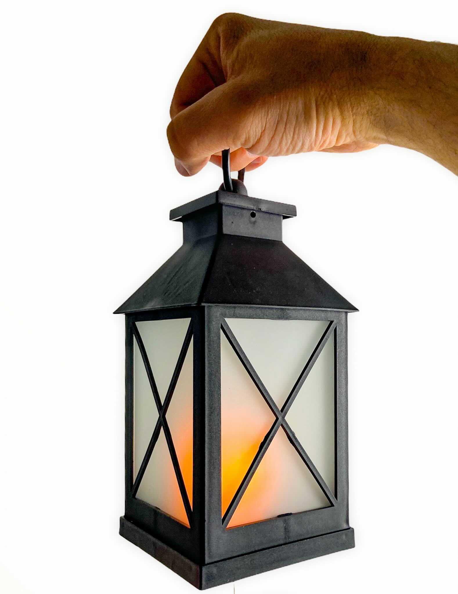 Flicker Flame LED Lantern $12.
