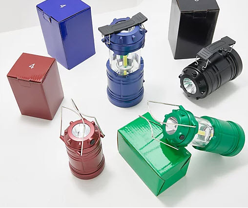 SET OF FOUR Popup Lantern Flashlights - Set of 2 Large and 2 Mini - Order 2 or more sets and SHIPPING IS FREE!