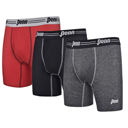 $9.49 (reg $20) 3 Pairs of Penn Men's Performance Moisture Wicking Boxer Briefs