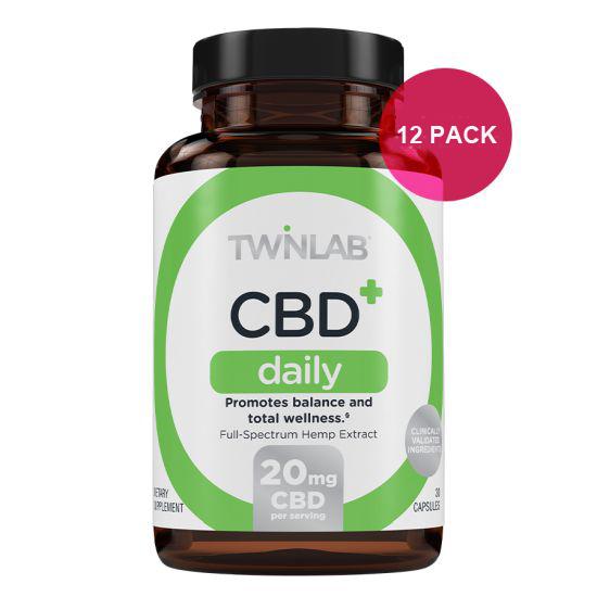 12 BOTTLES of Twinlab Inc CBD.