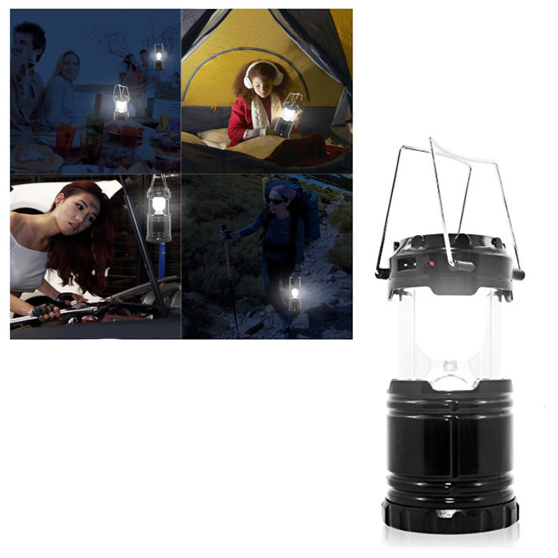 Solar Powered Ultra Bright LED Rechargeable Collapsible Lantern