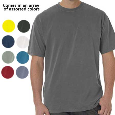 5 Pack of Ultra Comfortable Comfort Colors 100% Cotton Tee Shirts in Assorted Colors - Sizes Medium through 3X! Order 3 or more sets for just $22.99, Just $4.59 per shirt, which is a CRAZY good deal especially on the larger sizes, so load up! - SHIPS FREE!
