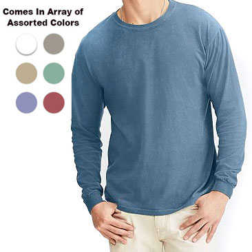5 Pack of Ultra Comfortable Comfort Colors 100% Cotton Long Sleeve Shirts in Assorted Colors - Sizes Medium to 2XL with NO extra charge for the larger sizes! - Only $5.99 per shirt! Load up for the whole family! SHIPS FREE! BONUS: Grab your phone and txt the word SECRET to 88108 for access to secret deals!