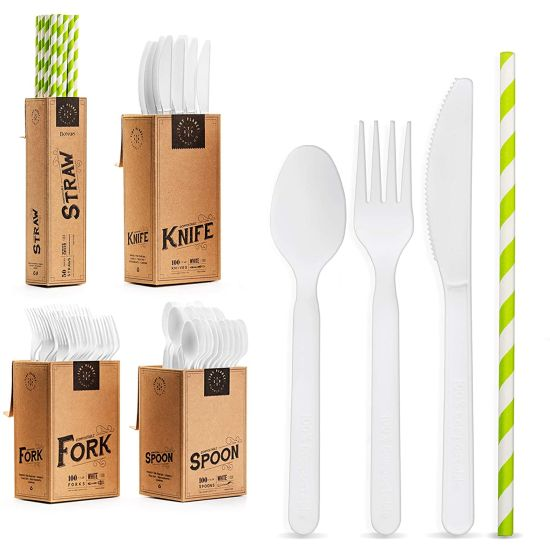 350 Piece COMPOSTABLE Disposable Cutlery Set $11.99 (reg $30)