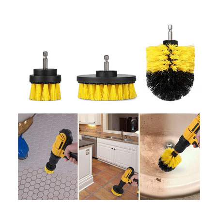 THIS THING AWESOME! SEE THE VIDEO! 3 Piece Scrub Brush Drill Attachment Kit - All purpose power scrubber for those tough to clean places! Great for kitchens, bathrooms, tile, grout, and washing your car! Tons of great reviews on Amazon! - SHIPS FREE!