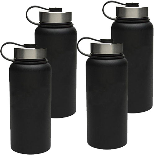 4 PACK of ZAK 18oz Double Walled Stainless Steel Vacuum Wide Mouth Bottle