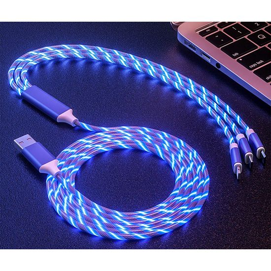 3 in 1 Energy Flowing LED USB.