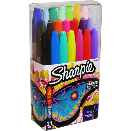 $5.99 (reg $15) 21 Pack of Sharpie Fine Point Ultra fine Permanent Markers