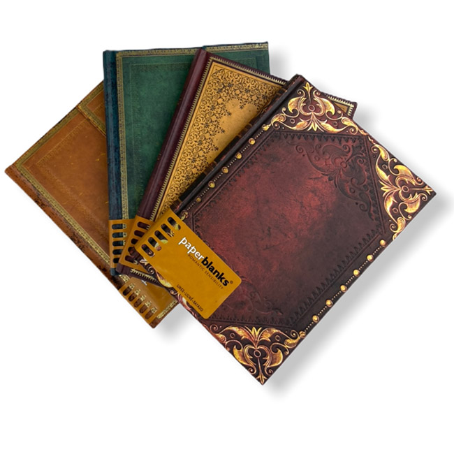 Old Leather Journals by Paper.