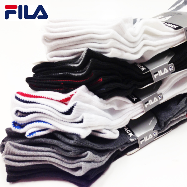 Fila Men's or Women's Performance No Show Socks