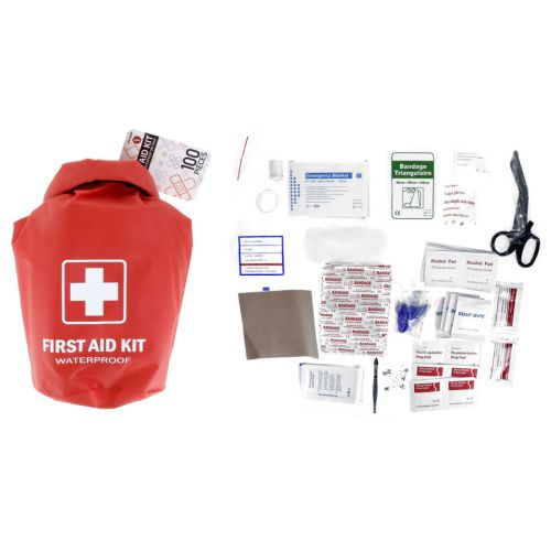 100-Piece First Aid Kit in Waterproof Dry Sack