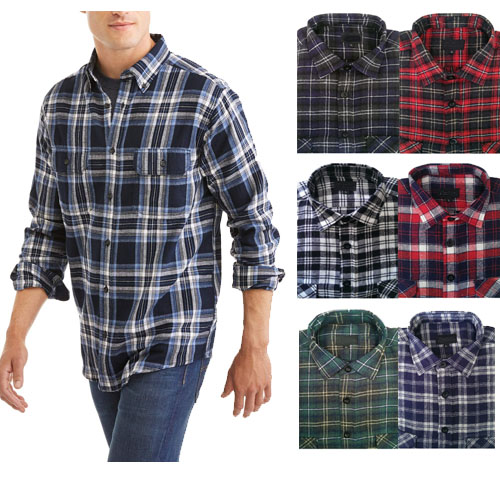 SOLD OUT BUT BACK! 4 Pack of Rugged Point Men's Flannel Shirts - Assorted Colors - These are VERY nice! Available in Med - XXL - Order 2 or more for just $27.96, just $6.99 each! These are $24.99 each at Target! SHIPS FREE!