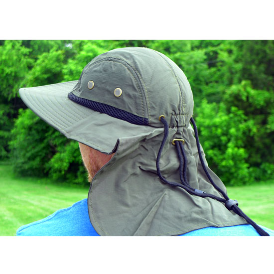 Working outside in this spare time? Don't get sunburned! 100% Cotton Boonie Hat With Rear Sun Flap -  Stay Free From Neck Burns! One for $8.49 or Two for $15! - SHIPS FREE AND IMMEDIATELY! - BONUS: Grab your phone & Txt SECRET to 88108 for access to secret deals!