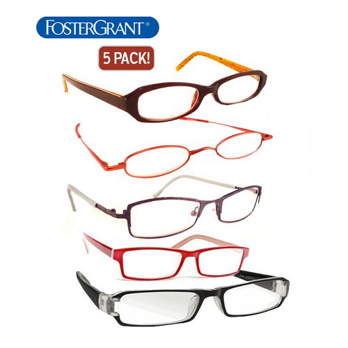 5-Pack Foster Grant Reading Glasses