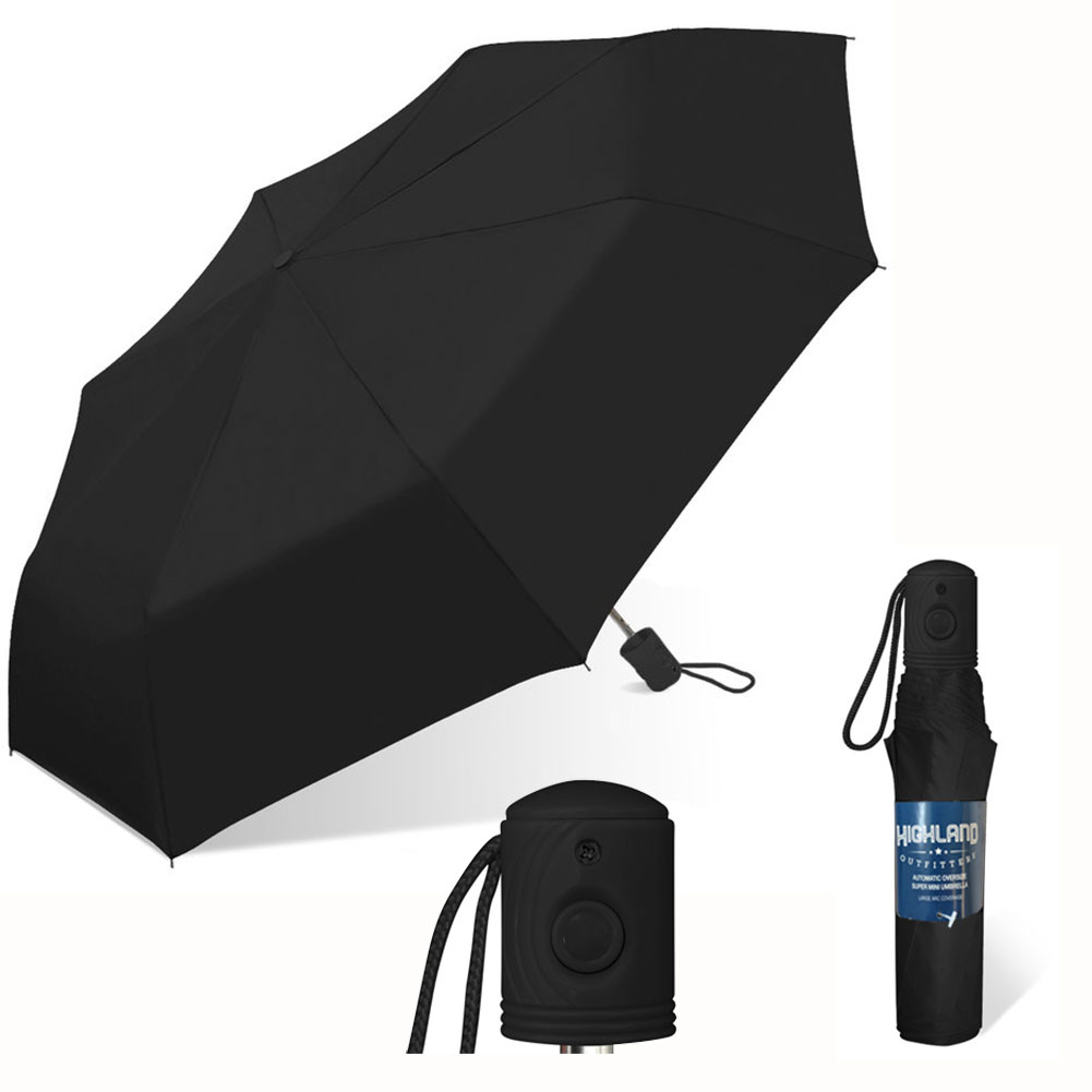 $6.49 (reg $20) Auto Open Super Mini Black Umbrella