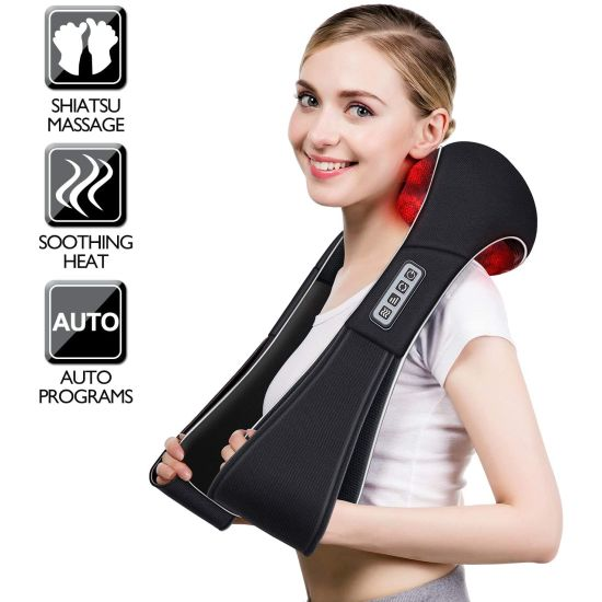 Shiatsu Neck and Back Massager with Heat - Folks, this is NOT some cheap vibrating massager. This is a VERY nice shiatsu (rolling, kneading massage) unit that WORKS the tension out of your neck and shoulders. Oh, these also work WONDERS for the lower back! The handles allow you to position the pressure points exactly where it's most needed. These are $75 and up in stores, so don't miss out on this for yourself or as a gift! - SHIPS FREE!