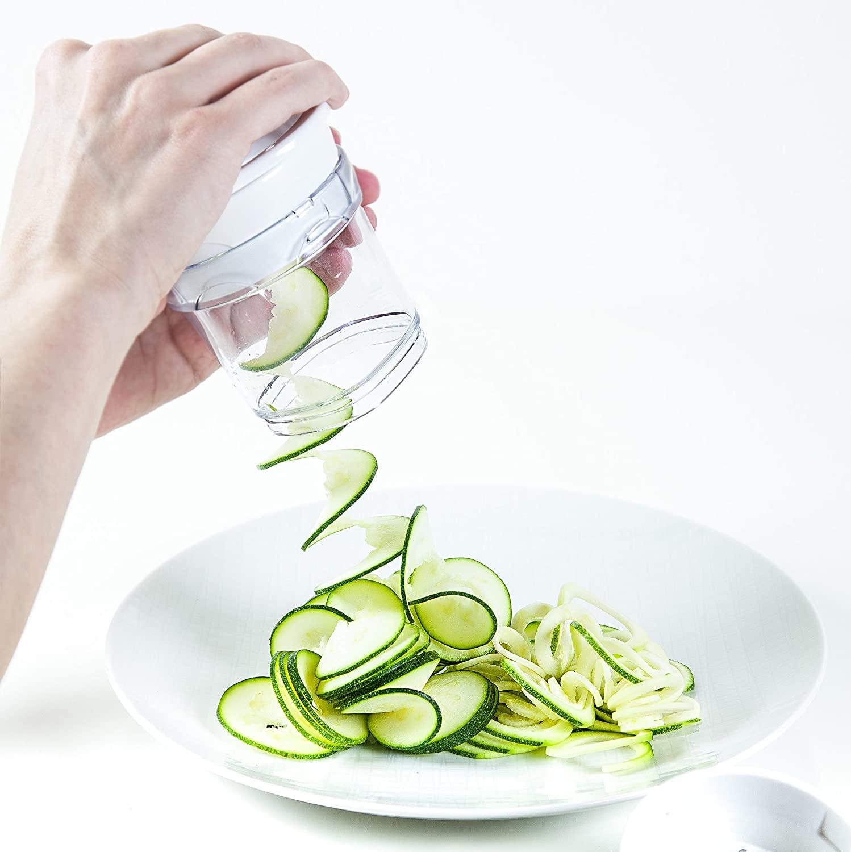 Paderno World Cuisine Veggie Spiralizer - Quickly create veggie spirals and veggie