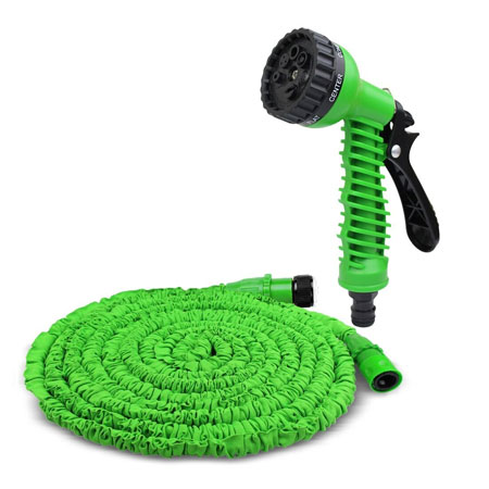 50 Foot Expanding Garden Hose with Spray Nozzle