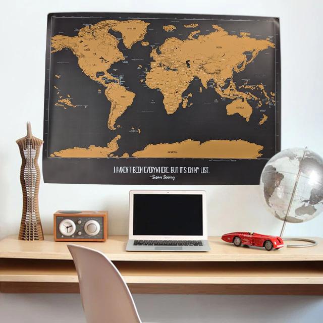 23 X 30 Scratch Off World Map.