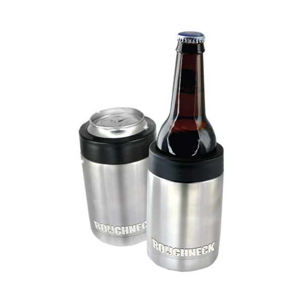THESE ARE AWESOME! SEE THE VIDEO! Roughneck Vacuum Sealed Copper Insulated Stainless Steel Can / Bottle Cooler - Keeps Bottles & Can Drinks ICE COLD for HOURS! SEE THE VIDEO! - Order 6 or more for just $4.99 each! We compared these to the $30 Yeti version, and they worked exactly the same! GREAT for beer, soda...beer! SHIPS FREE!
