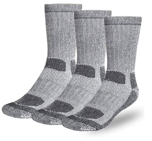3 Pairs of Merino Wool Socks - Available in Men's, Women's and Kids - (Men's are all black or grey, while women's and kids come in grey, blue or orange at random) - SHIPS FREE!