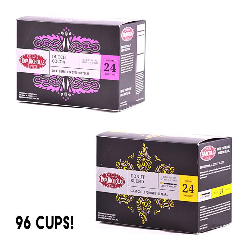 96 Pack PapaNicholas Hot Chocolate Single Serve K-Cups