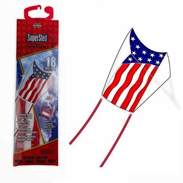 Super Sled American Flag Kite.