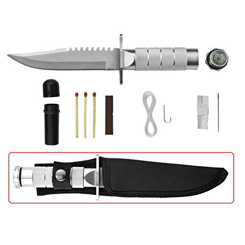 "Survival 8"" Knife with A Compass, Survival Kit & Nylon Sheath"