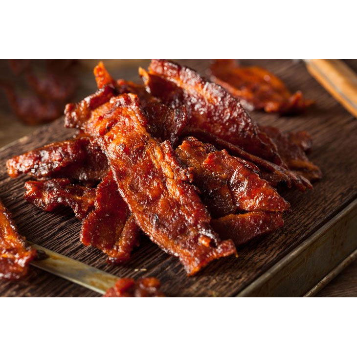 Maple Bacon Jerky - We had to agree to keep the brand name secret due to the price being so low, but it's delicious! - $7 per bag in stores, but only $3.49 form us! Best by Feb 2020, so load up! Limit 24 bags per customer - SHIPS FREE! BONUS: GRAB YOUR PHONE AND TXT THE WORD SECRET TO 88108 FOR ACCESS TO OUR SECRET DEALS!