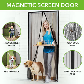 FLASH SALE - LET SOME FRESH AIR IN! Magna Screen- The Instant SOLD OUT BUT BACK! Magnetic Screen Door! Enjoy the outdoors without the bugs getting in! Currently $20 at Walmart! - You're getting an amazing deal on this because the screens have random patterns and come  in bulk packaging and not a retail box you will throw away anyway! $1.49 shipping, but order 3 or more and SHIPPING IS FREE!