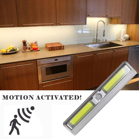 Wireless Instant Stick Up Motion Activated Cob Led Under Inside