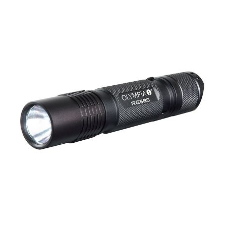 Olympia RG580 Rechargeable Rugged Impact Resistant Waterproof Flashlight