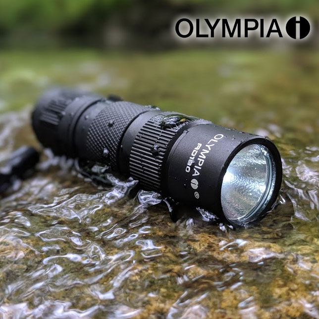 GREAT GIFT FOR DAD! - Olympia AD180 180-Lumen TRULY WATERPROOF AD Series High-Performance CREE LED Compact Flashlight - Again, not water resistant, waterproof up to 6 feet of submerging! BATTERIES INCLUDED! Currently $30 On Amazon with 5-Star Reviews! Order 2 for just $7.99 each! SHIPS FREE!