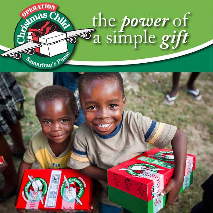 15th Annual Shoebox for Operation Christmas Child