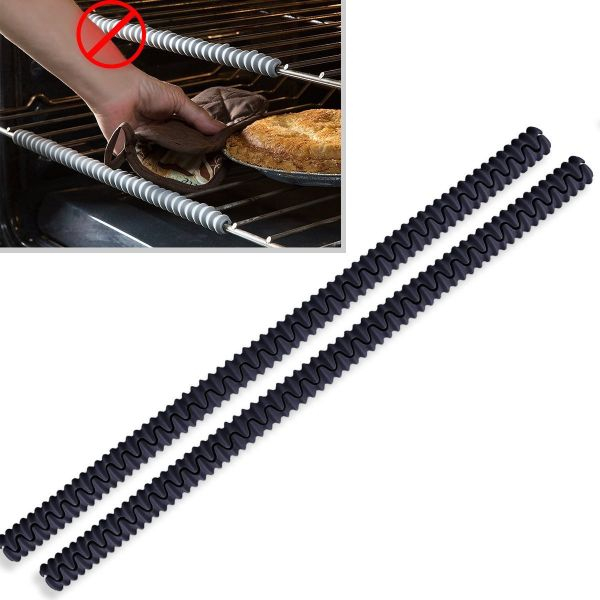 THESE ARE SELLING EXTREMELY FAST, AND WILL BE GONE SOON! - 2 Pack of Silicon Oven Rack Shields Oven Rack Guards - Protects Against Burns and Scars, While Also Allowing You to Safely Slide Oven Racks In and Out Without Bulky Oven Mitts - (They can easily be cut down to fit toaster ovens too!) - $1.49 shipping but order 2 or more and SHIPPING IS FREE!