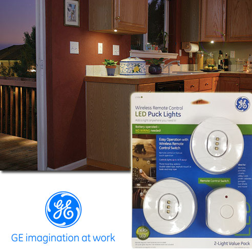 Ge Wireless Remote Control Led Puck Lights Under Cabinet