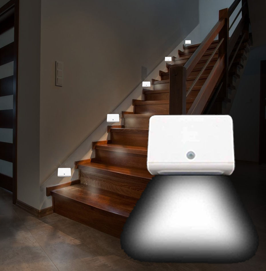 SOLD OUT BUT BACK! - Wireless Hallway / Stair Motion Activated Path Light - BATTERIES ARE INCLUDED! $1.49 shipping, but order 6 or more and SHIPPING IS FREE! SEE THE VIDEO! <STRONG>BONUS: GRAB YOUR PHONE AND TXT THE WORD SECRET TO 88108 FOR ACCESS TO ALL OUR SECRET DEALS!</STRONG>