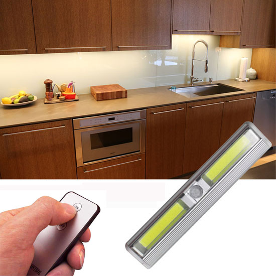 $4.49 (reg $18) Remote Control Wireless Under Cabinet LED Lighting