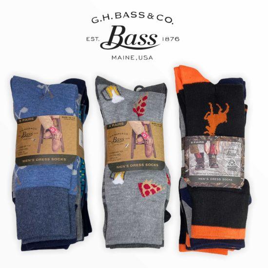 18-Pair G.H. Bass Assorted Fun Pattern Dress Socks