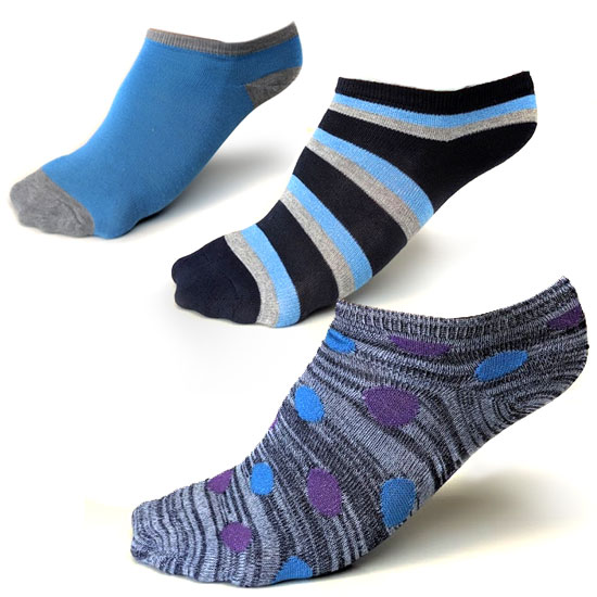 18-Pair Women's No-Show Socks Pack