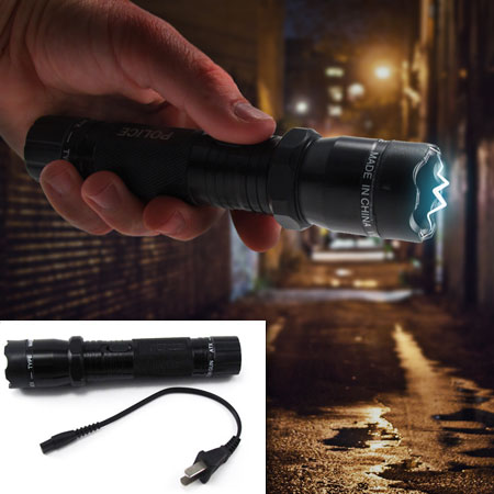 TEMPORARY PRICE DROP - Aluminum Rechargeable LED Flashlight With Built-In Stun Gun! - Use it as a normal flashlight or as a stun gun if needed -  Simple, discrete, and effective self defense for you and your loved ones!  Grab one for yourself & anyone you think may need protection - $1.99 shipping, but order 3 or more (for friends and family) and SHIPPING IS FREE!