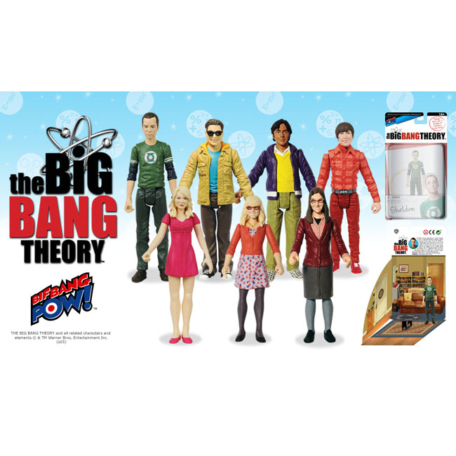7-Set Officially Licensed Big Bang Theory Character Action Figures