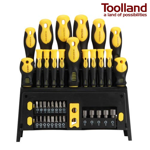 ThatDailyDeal: Toolland 39 Piece Driver Set With Mount Rack - Included just about everything you need with standard screwdriver AND specialty bits, sockets AND a built-in magnetizer / demagnetizer built into the rack! - Only $24.99 SHIPS FREE!
