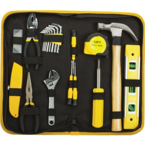 GREAT GIFT! - 32-Piece Home Project & Repair Tool Set  - Includes 8 Oz Claw Hammer, 12' Tape Measure, 6