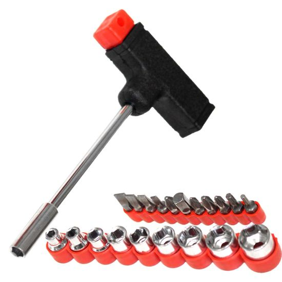 INSANE $4.99 DEAL! 22-Piece T-Shaped Handle Socket Set with 11 Bits & 9 Sockets - FANTASTIC for extra torque without hurting your wrists - Only 49 cent shipping, but if you want FREE shipping, simply order 4 or more. Maybe gifts for someone you know? - BONUS: Grab your phone and txt the word SECRET to 88108 for access to our SECRET DEALS!